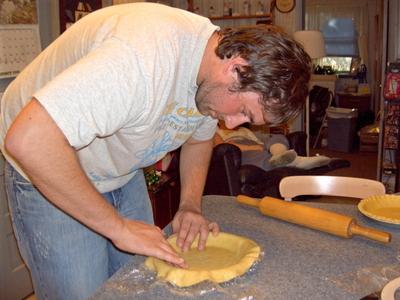 AA-  The crust in the pan